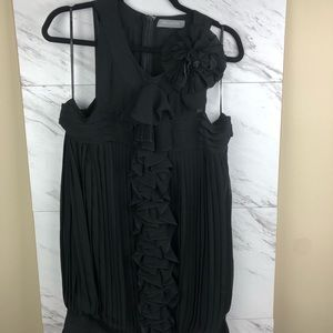 MM Couture black ruffle dress by Miss Me, sz L